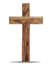 Krzyż duży z drewna oliwnego